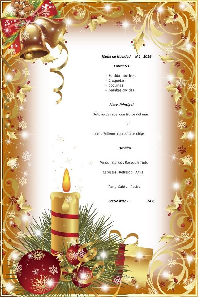 Navidad Bombadill menú 1